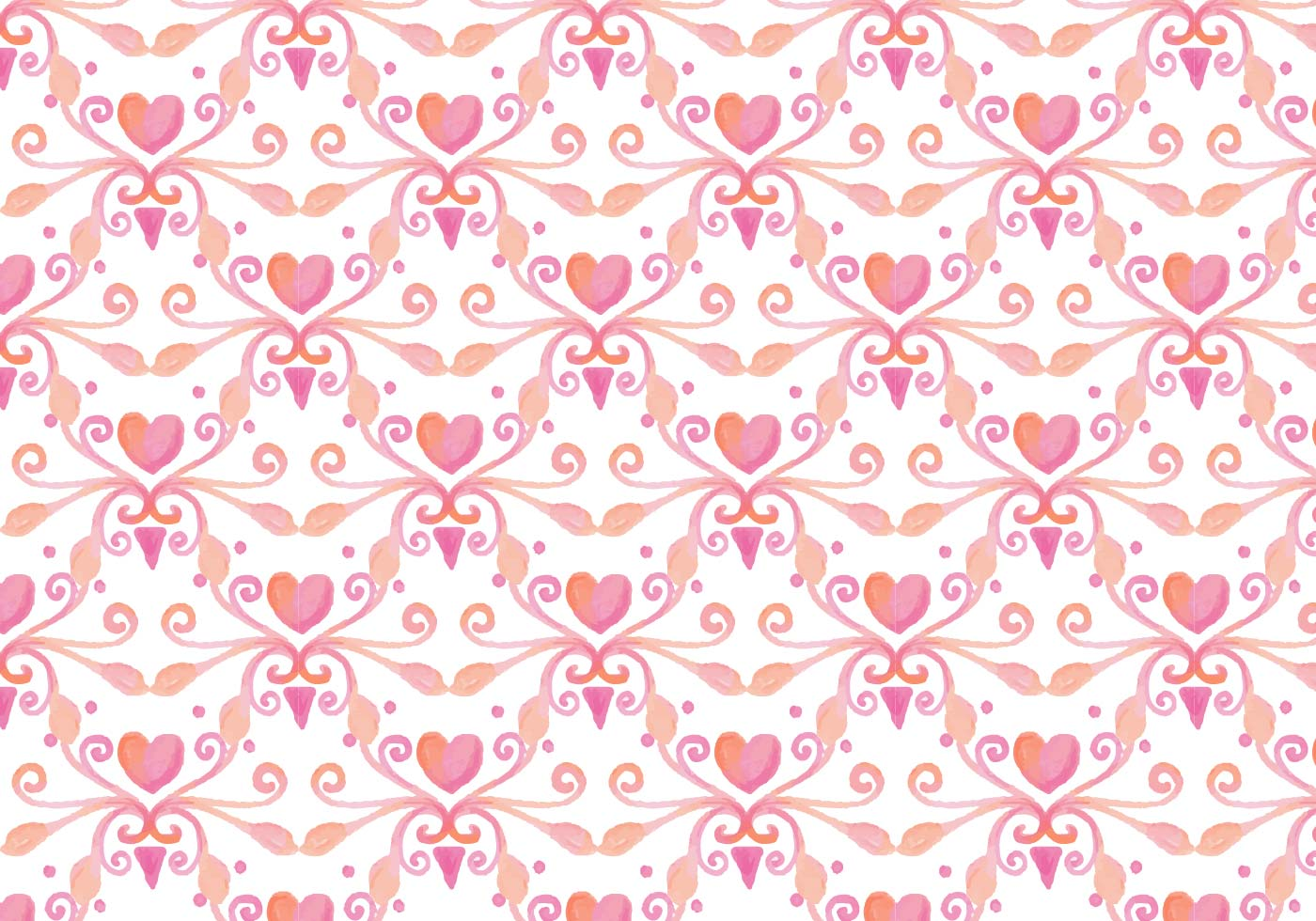 free vector watercolor heart royal background   download