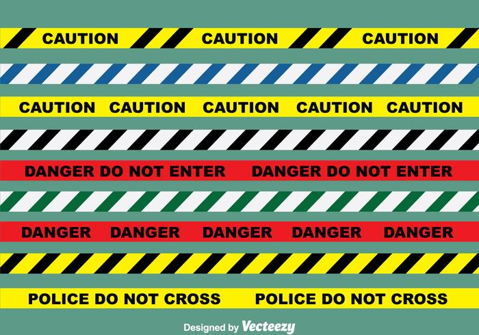 Danger Line Vector Set