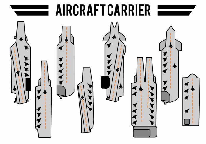 Ensemble d'icônes de porte-avions