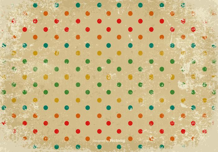 Grunge Polka Dot Vector Background