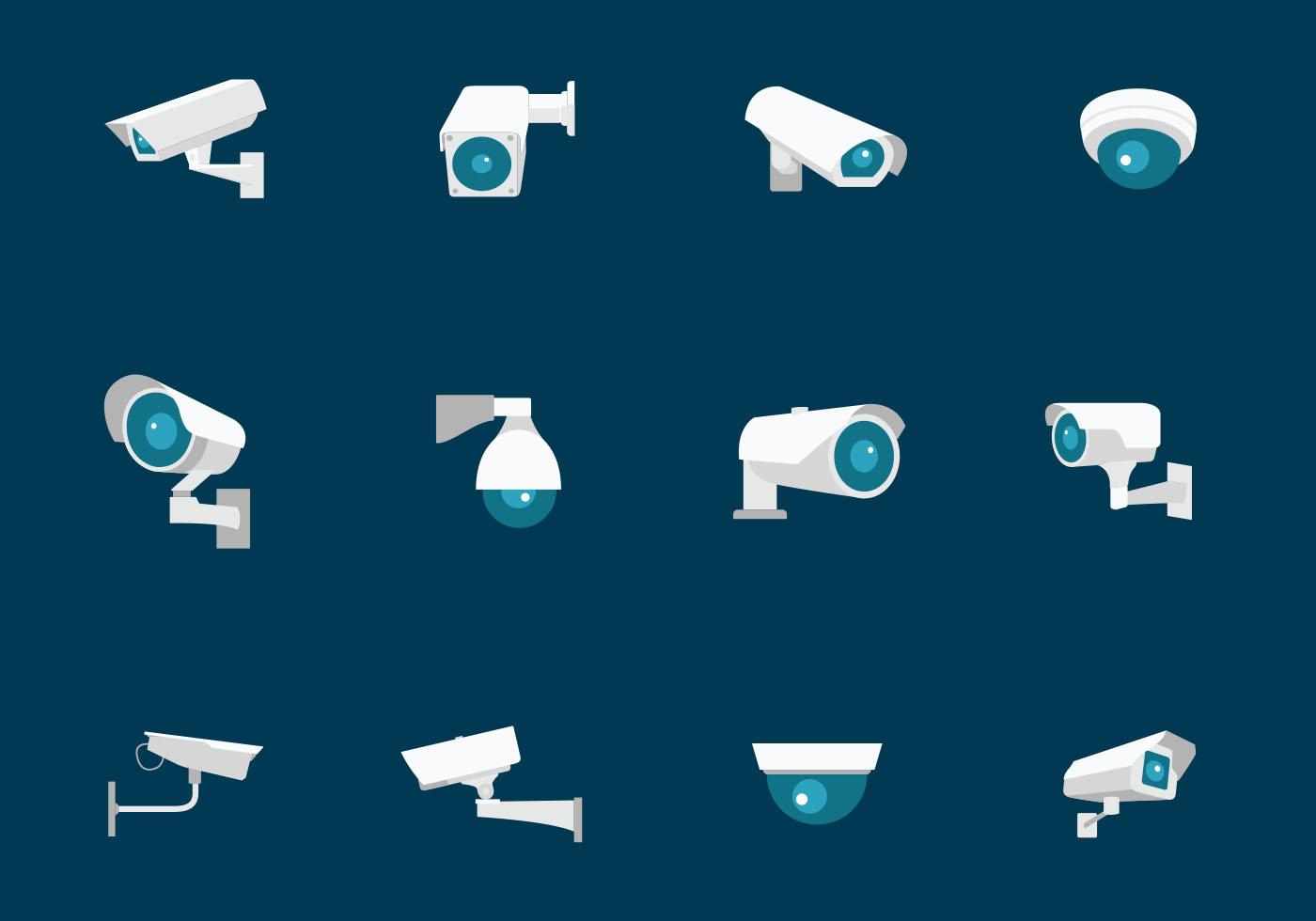 Cctv Security Camera Download Free Vector Art Stock