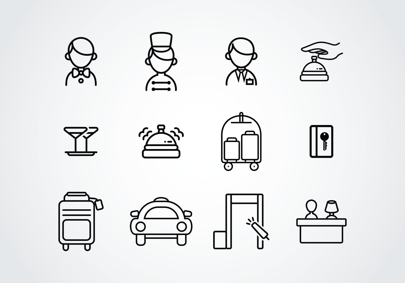 concierge pictogram icons
