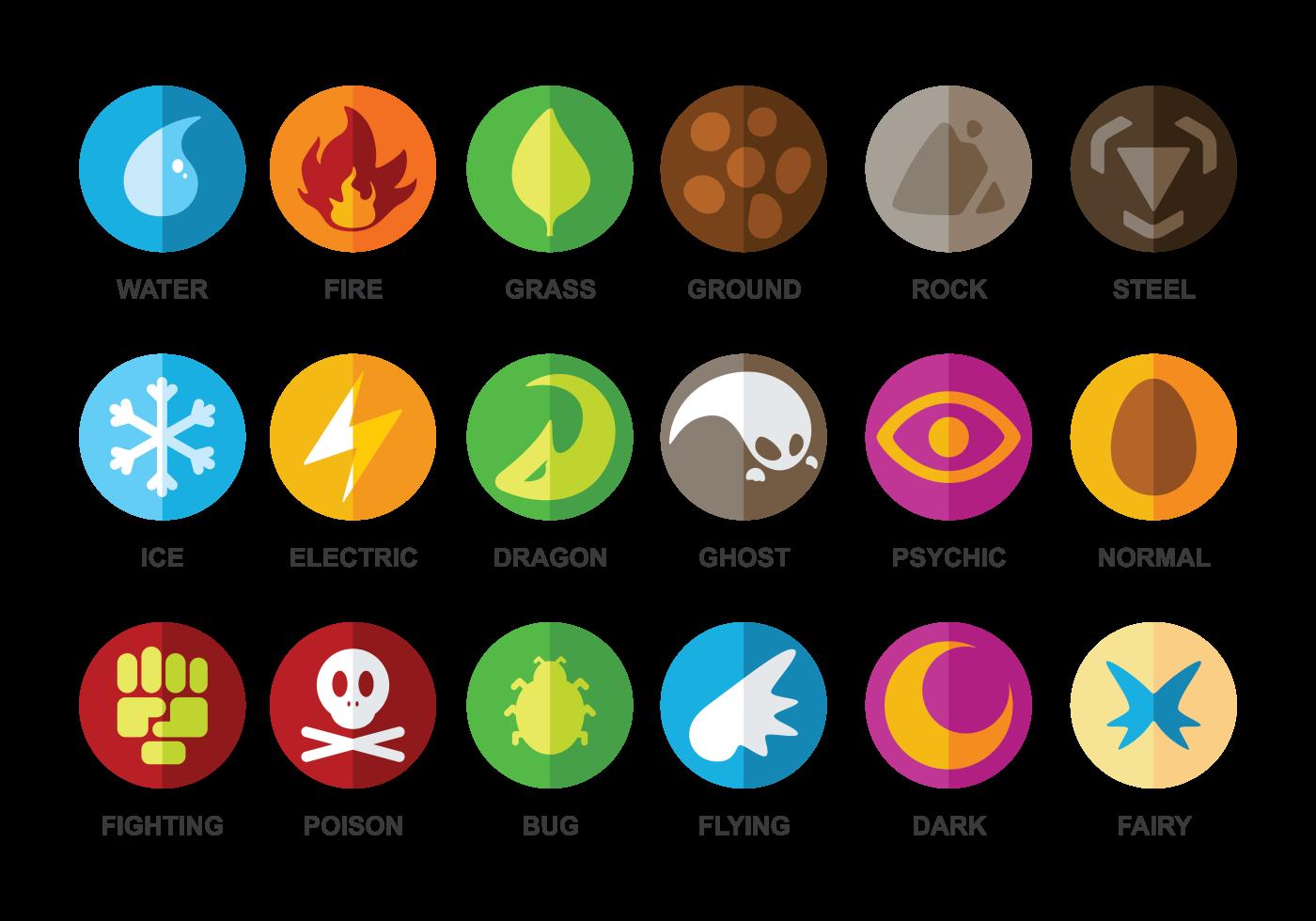 Free Type Pokemon Vector Download Free Vector Art Stock Graphics