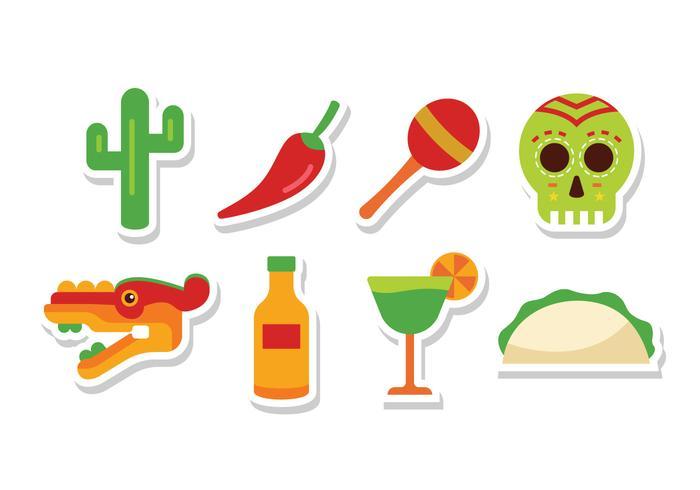 Free Flat Mexico Icons