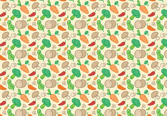Vegetales Patrón Vector