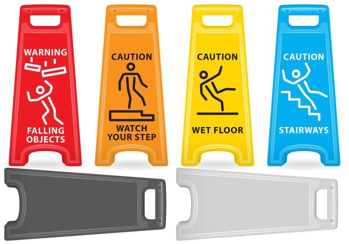 Caution Plastic Signs