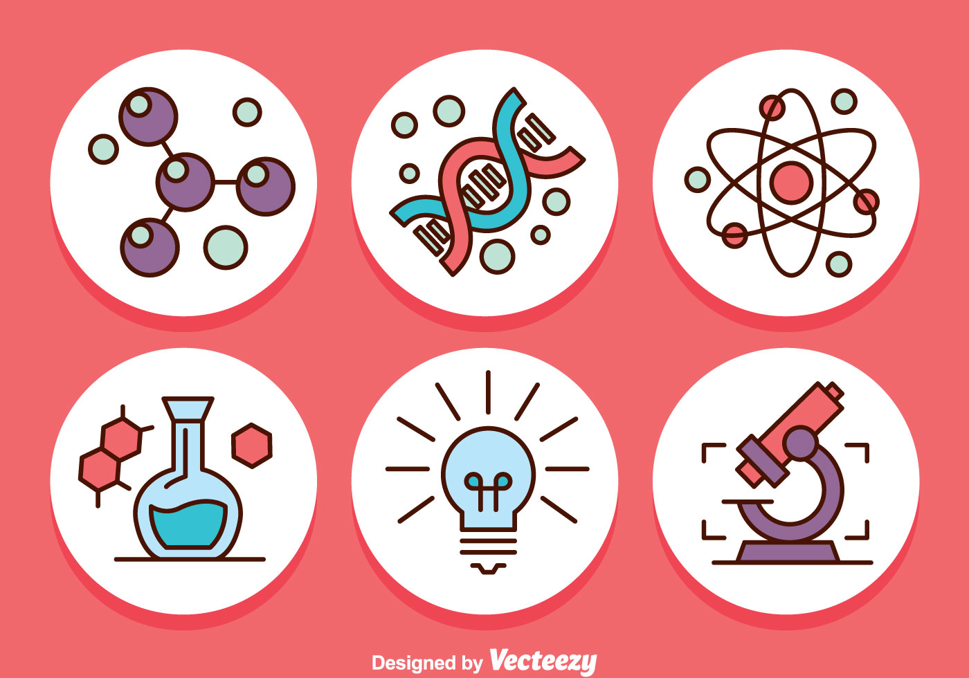 Science Circle Icons Vector - Download Free Vector Art ...