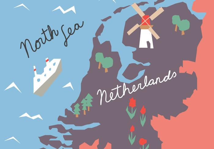 Colorful Holland Map vector