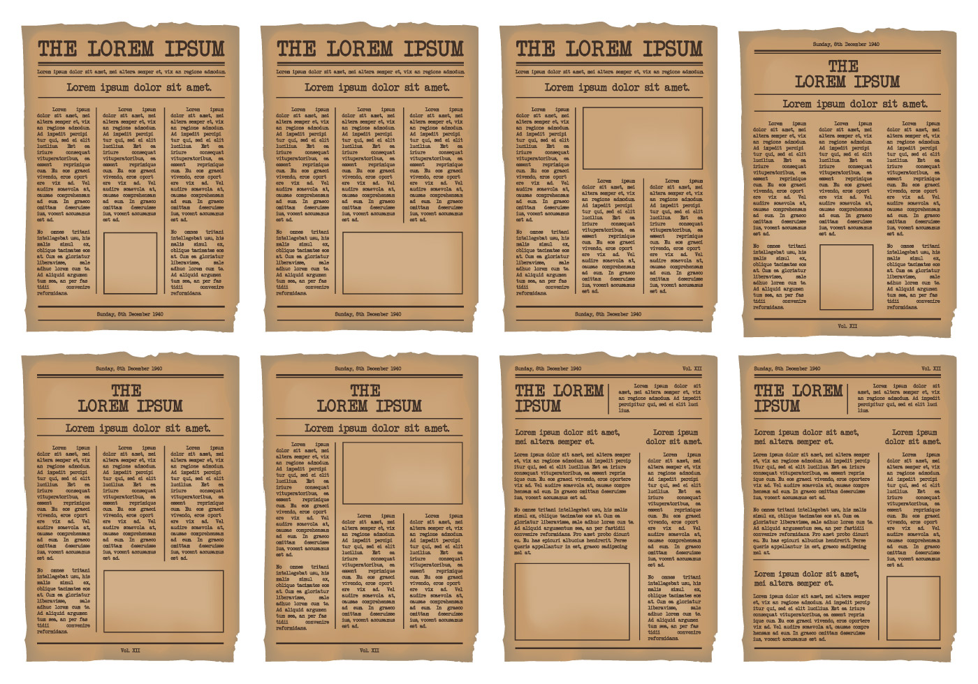 old newspaper template vector set download free vector art stock graphics images. Black Bedroom Furniture Sets. Home Design Ideas