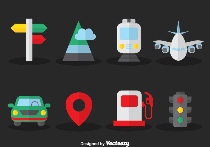 Map Legend Flat Icons Vector