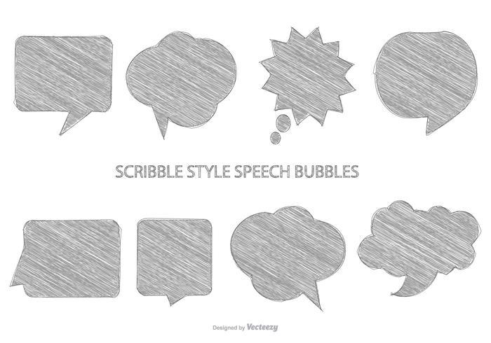 Bolhas de discurso esboçadas