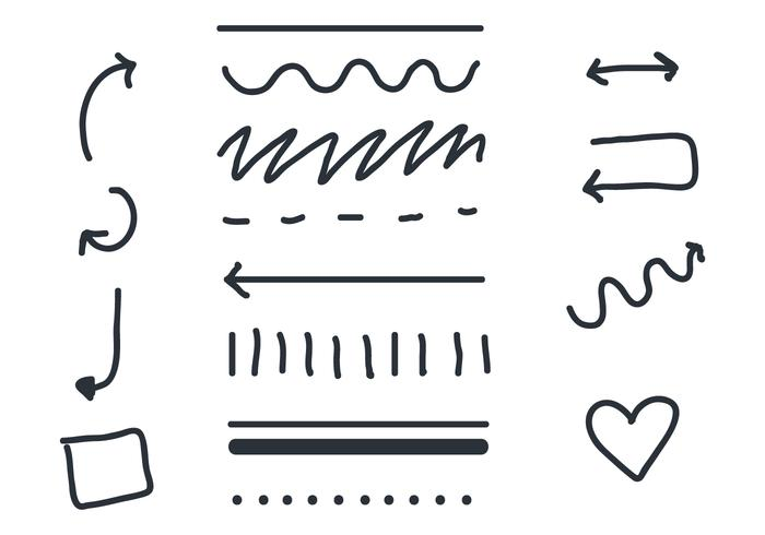 Linear Arrow and Sash Vectors