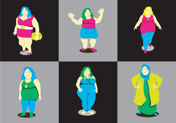Fat Ladies Vector
