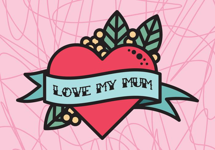 Love My Mum Tattoo Download Free Vectors Clipart Graphics Vector Art