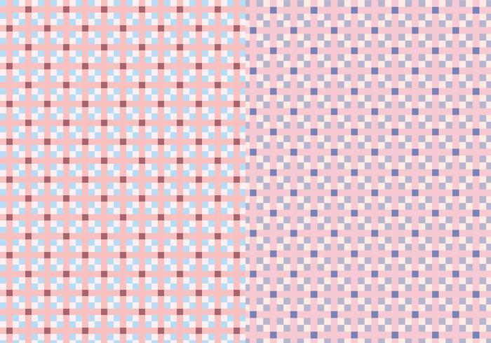 Motif carré rose