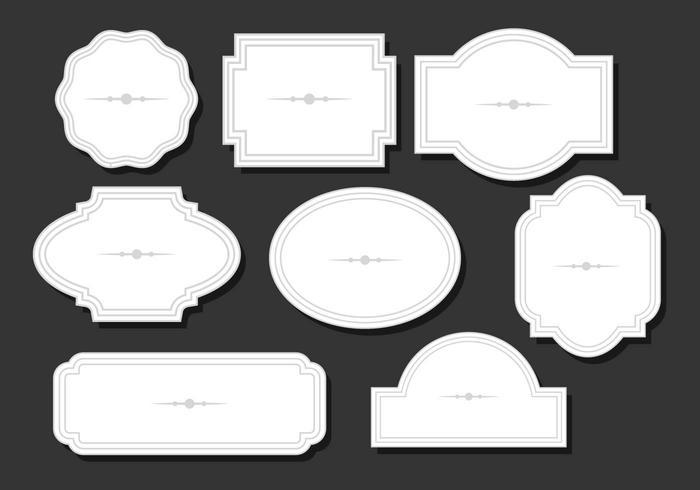Cartouche diseño plano