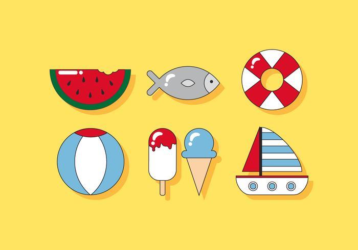Deliciosos vectores playa
