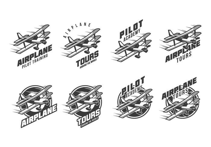 Free Biplane Vintage Logo