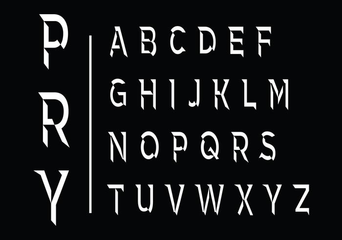 Set of Beveled Alphabet - Download Free Vectors, Clipart