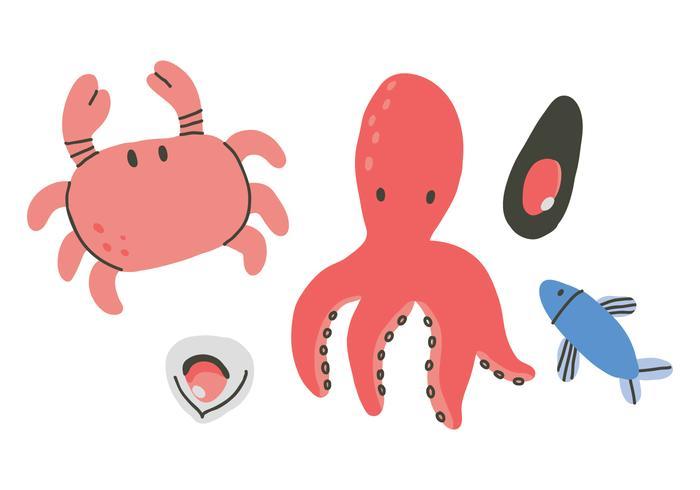 Vetores animais do mundo do mar