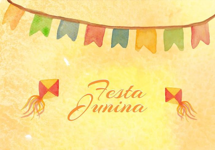 Free Vector Junina Watercolor Background