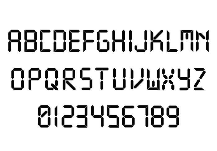 Digital Font And Number