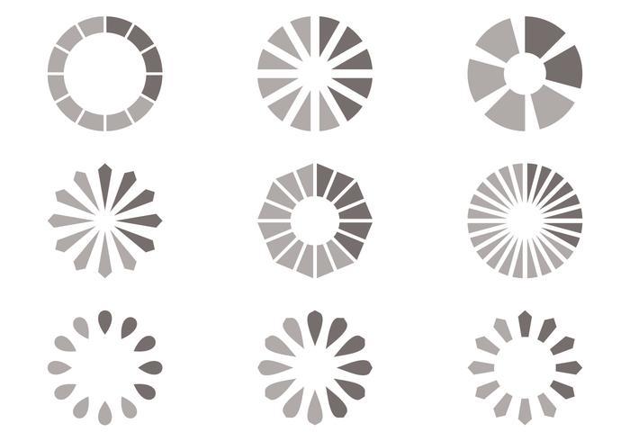 Simple Gray Preloader Vector