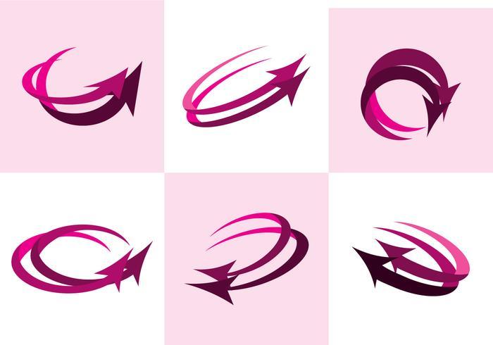 Rosa flechas vektor