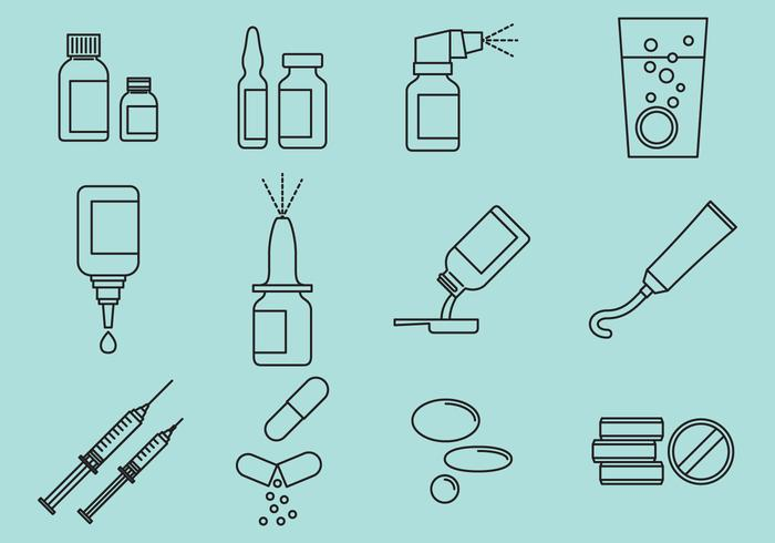 Types Of Medicine vector