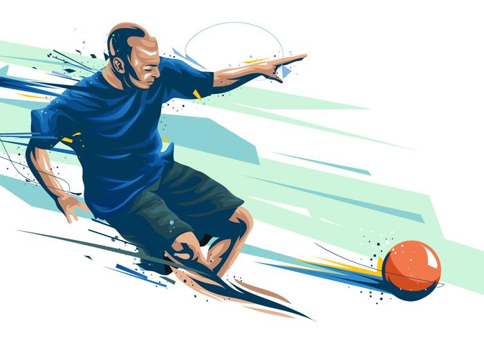 Dodgeball Player Pintado Vector
