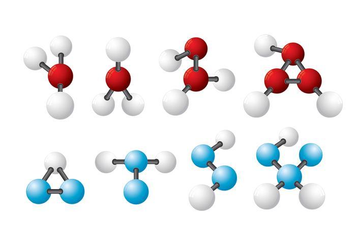 Iconos del vector del átomo