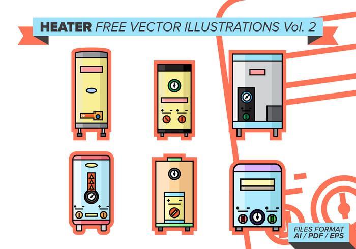 Heater Free Vector Illustrations Vol. 2