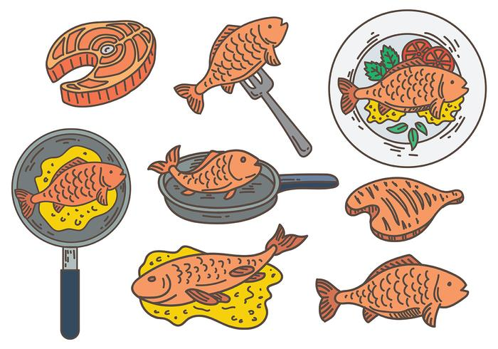 Free Fish Fry Icons Vector