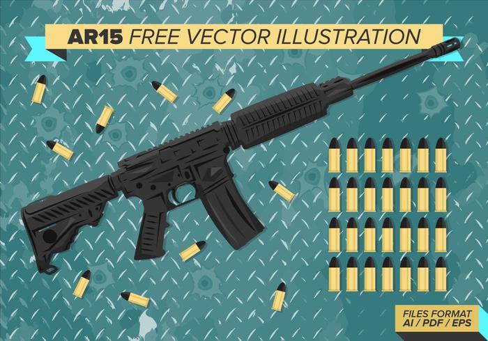 Ar15 Kostenlose Vektor-Illustration vektor