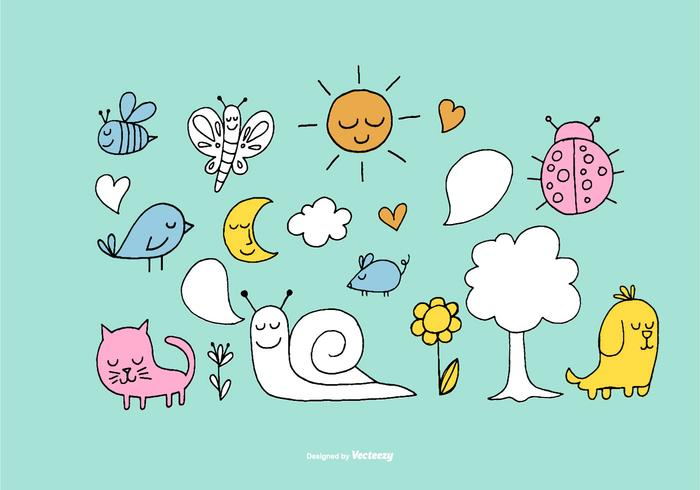Cute Forest Element Vectors