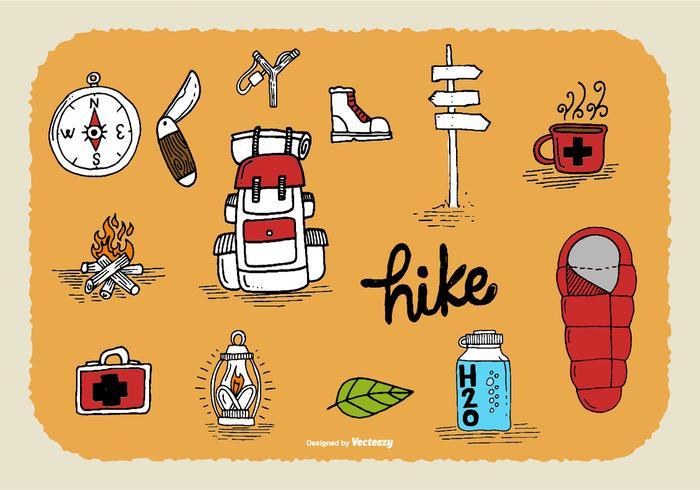 Vetores Doodle De Caminhada Desenhada À Mão