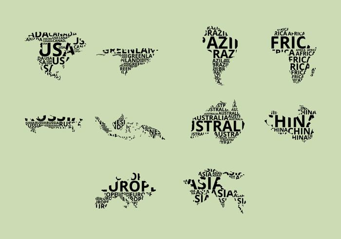 Word Map Icon Set