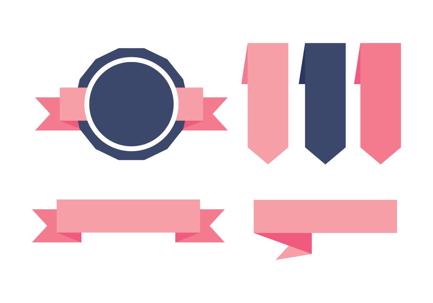 blue and pink sash etiquetas vectors download free