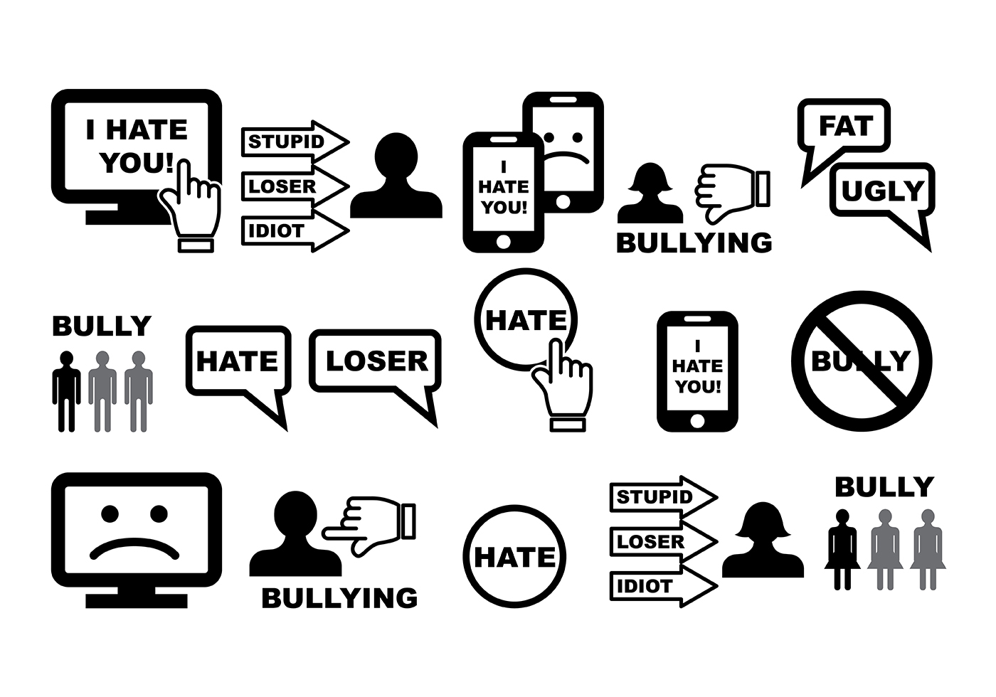 bullying vector download free vector art stock graphics