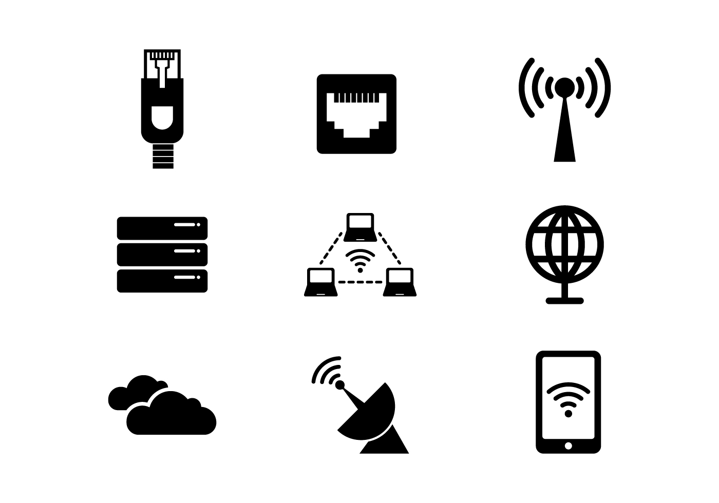 free network and internet vector icon