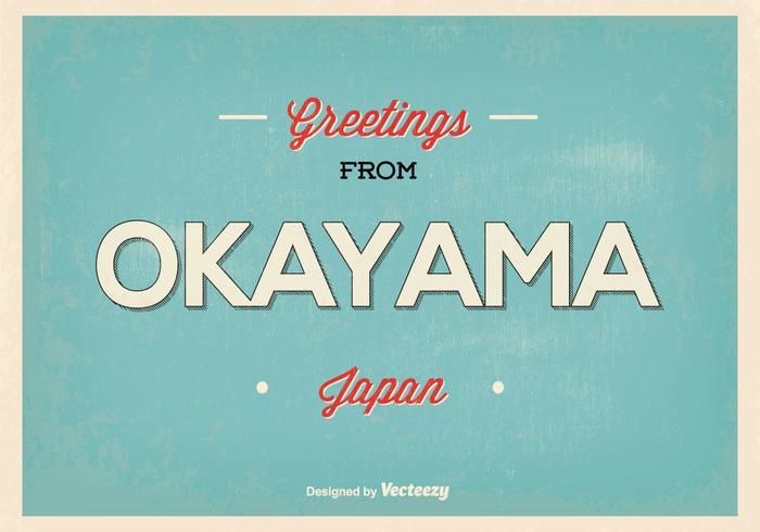 Okayama Japan hälsning illustration