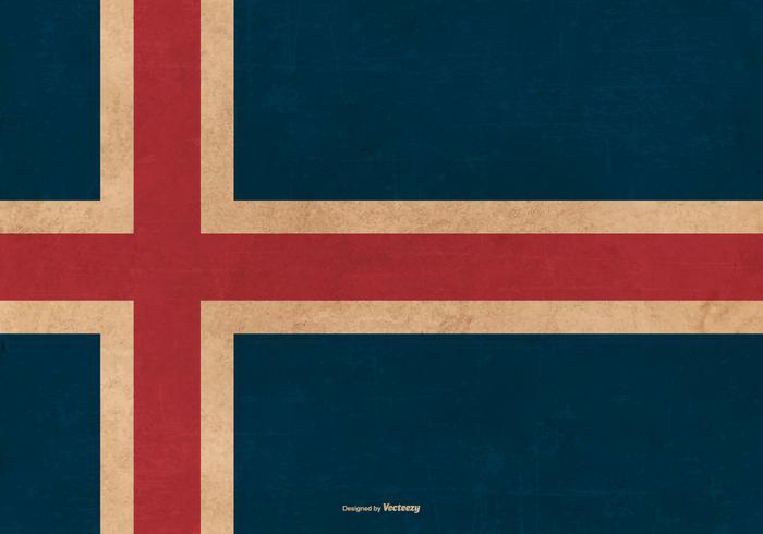 Grunge Bandera de Islandia vector