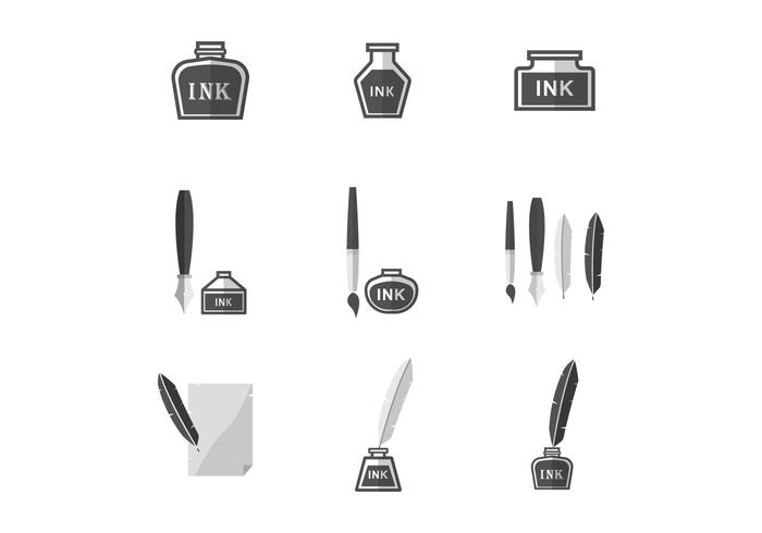Free Ink Pot Vector