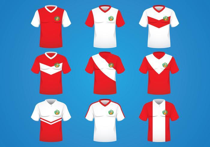 Perú Jersey Concepto vector