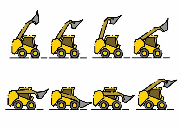 Minimalist Skid Steer Icon Set