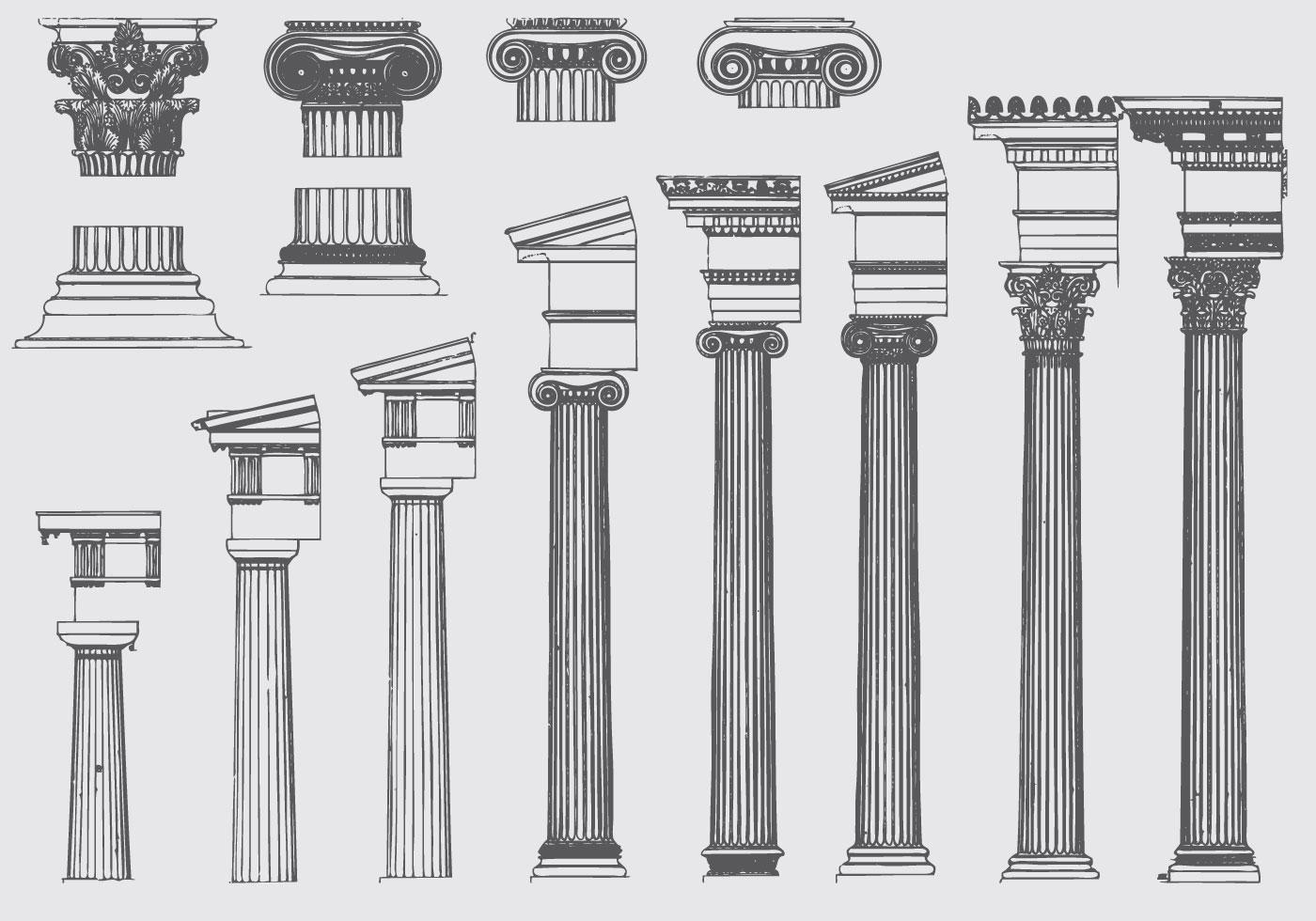 Roman Pillar Evolution Download Free Vector Art Stock