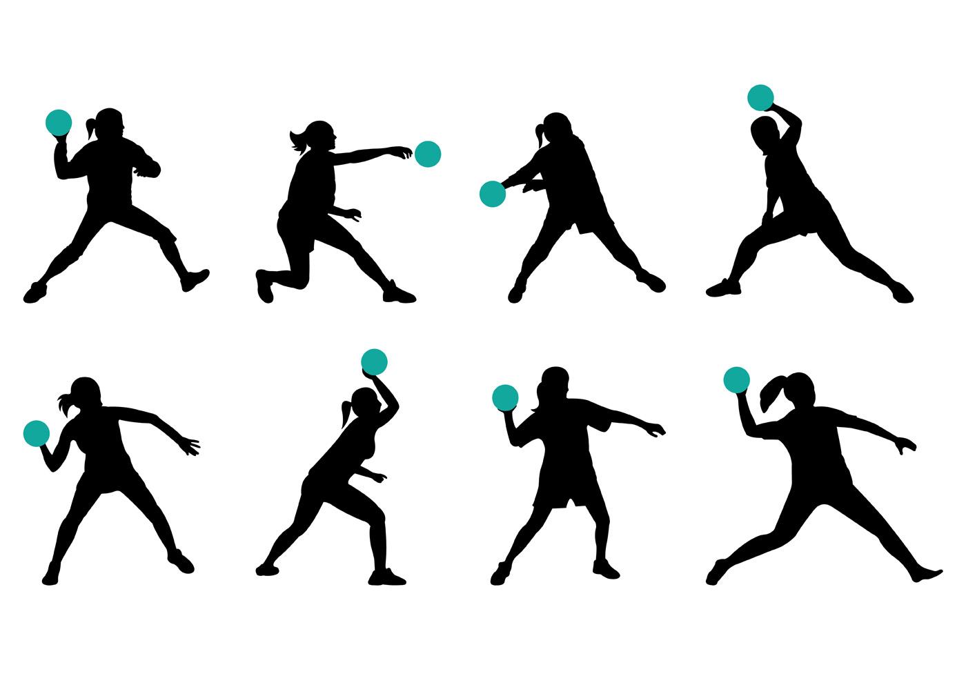 Dodgeball silhouette