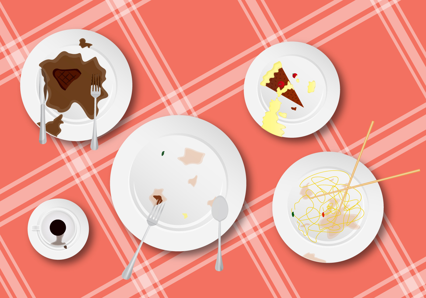 Clean These Up Dirty Dishes Vector Download Free