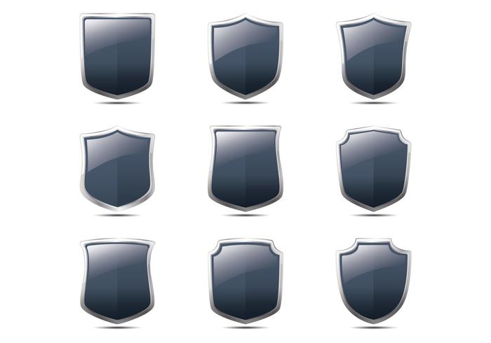Realistic Blason Shield Form Vectors