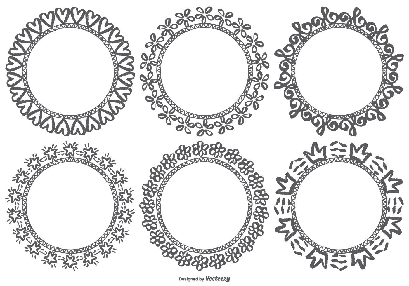 Hand Drawn Doodle Frames - Download Free Vector Art, Stock ...